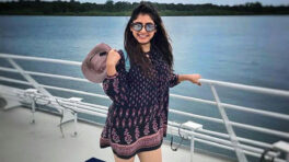 Niti Taylor's wardrobe is perfect for the vacay