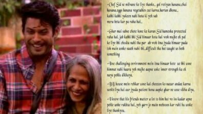 Sidharth Shukla's Mom Writes A Thank You Letter To Bigg Boss