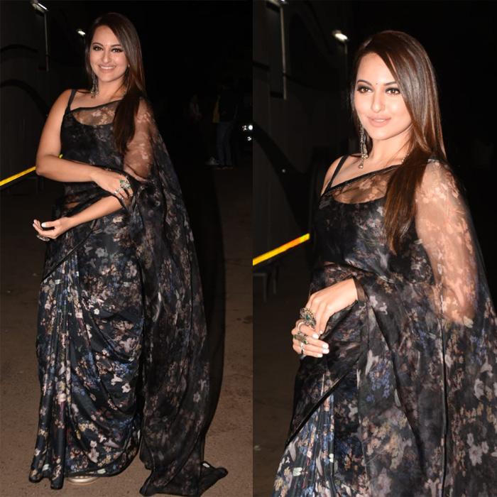 Sonakshi Sinha Stuns Completely In Floral Saree 1