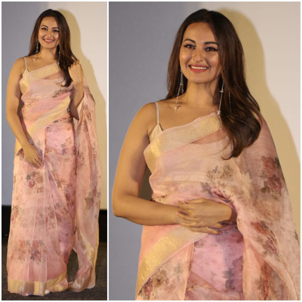 Sonakshi Sinha Stuns Completely In Floral Saree 4