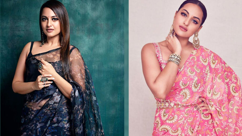 Sonakshi Sinha Stuns Completely In Floral Saree