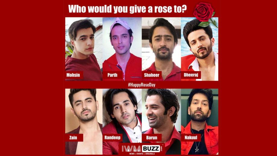 Vote Now: #RoseDay: Who would you like to give a rose to? Mohsin Khan, Parth Samthaan, Shaheer Sheikh, Dheeraj Dhoopar, Zain Imam, Randeep Rai, Barun Sobti, Nakuul Mehta