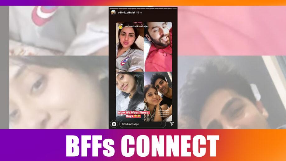 BFFs Shivangi Joshi, Shraddha Arya, Shashank Vyas, Adhvik Mahajan connect over video conferencing 2