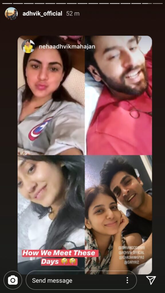 BFFs Shivangi Joshi, Shraddha Arya, Shashank Vyas, Adhvik Mahajan connect over video conferencing