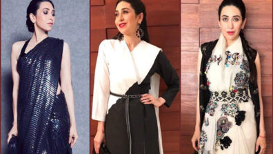 Different shades of Karisma Kapoor in her saree collection is all you need to admire during this 21 days lockdown