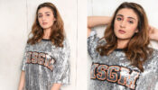How to style like Dhvani Bhanushali In Glitter Outfits?
