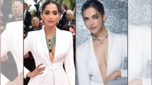 Sonam Kapoor VS Deepika Padukone - Who looks more stylish in a white formal suit?