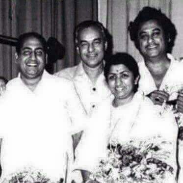 Times when Lata Mangeshkar, Mohammed Rafi, Mukesh, and Kishore met together for a song