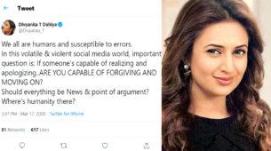 TV star Divyanka Tripathi's Coronavirus mistake 1