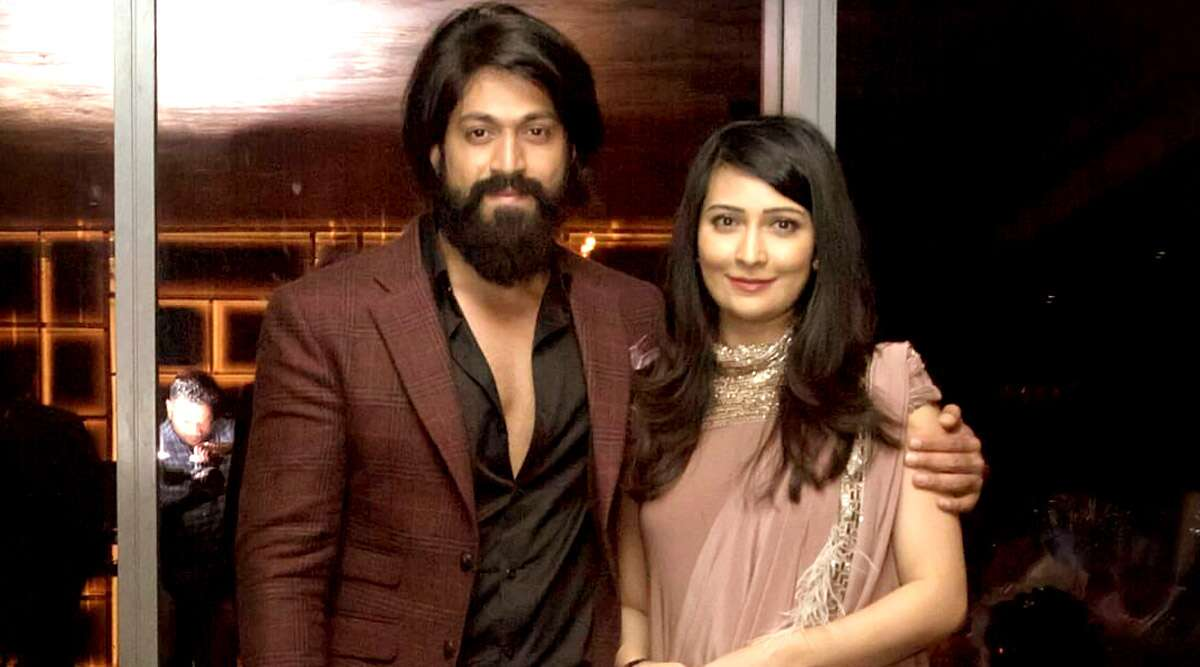 Yash and Radhika Pandit TWINNING in same colour outfits