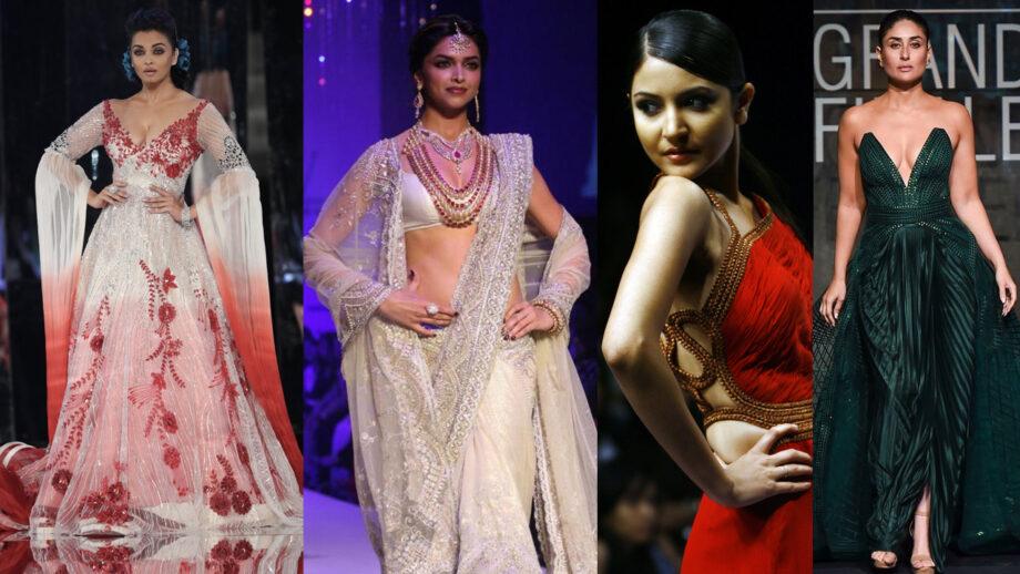 Aishwarya Rai Bachchan, Deepika Padukone, Anushka Sharma, Kareena Kapoor Khan: Bollywood Actresses SEXY Ramp Walks