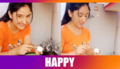 Ashnoor Kaur jumps in joy, breaks an egg: Watch funny video