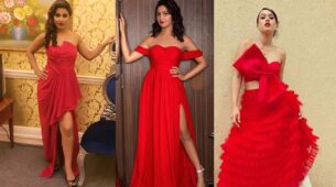 Hina Khan Vs Sriti Jha Vs Nia Sharma: Who pulled off the red gown better?