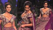 Ileana D'Cruz looks intense in a purple lehenga set with zardozi embroidery, see pics inside!