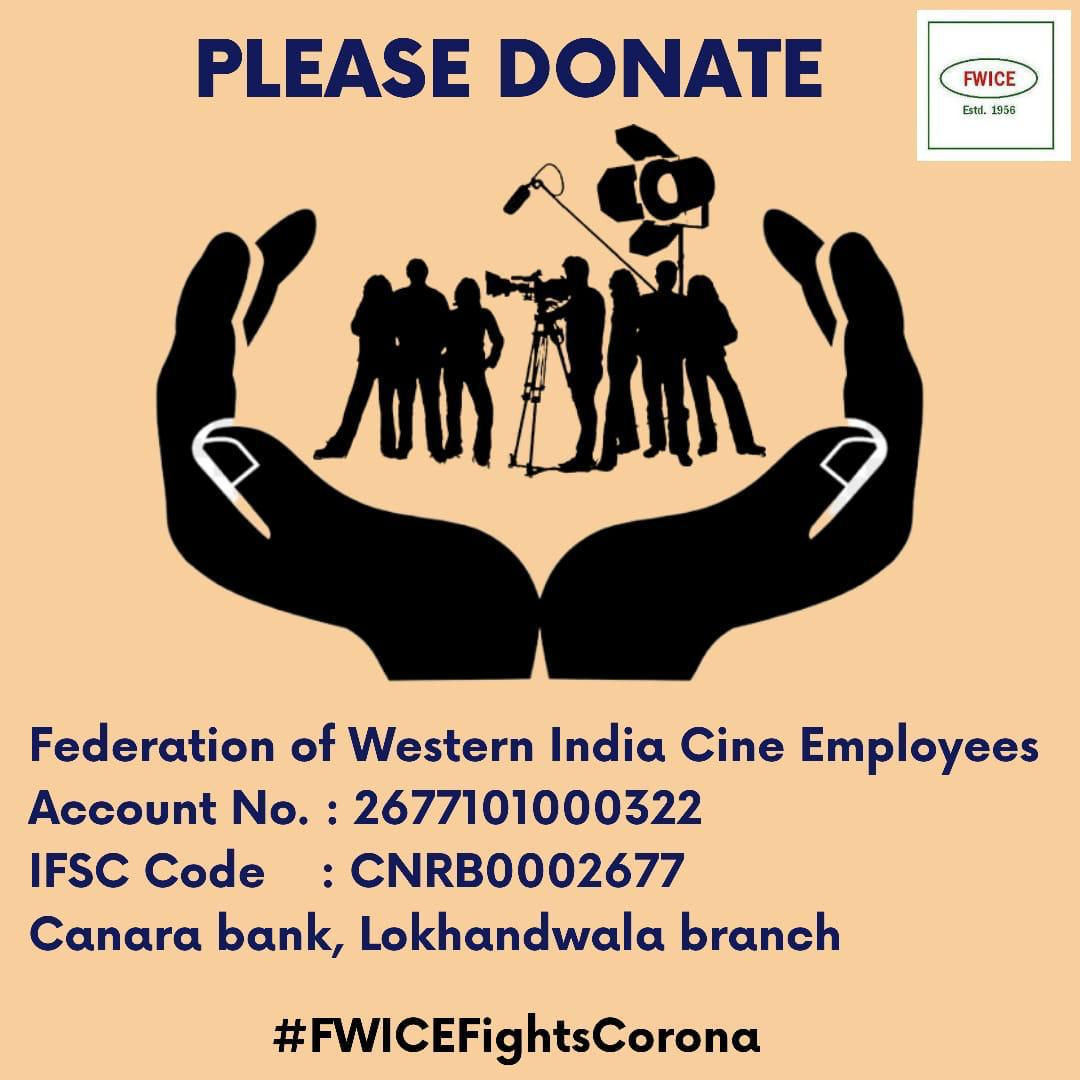 Initiative by Sakett Saawhney and Chloe Ferns with Ashoke Pandit of FWICE to help industry's daily wage earners