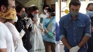 Inside Photos: Ranbir Kapoor, Alia Bhatt, Saif Ali Khan, Kareena Kapoor Khan, Abhishek Bachchan, Neetu Singh sad and emotional at Rishi Kapoor's last rites 6