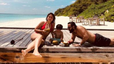 Kareena Kapoor Khan wishes for 'beach time' with Saif and Taimur Ali Khan