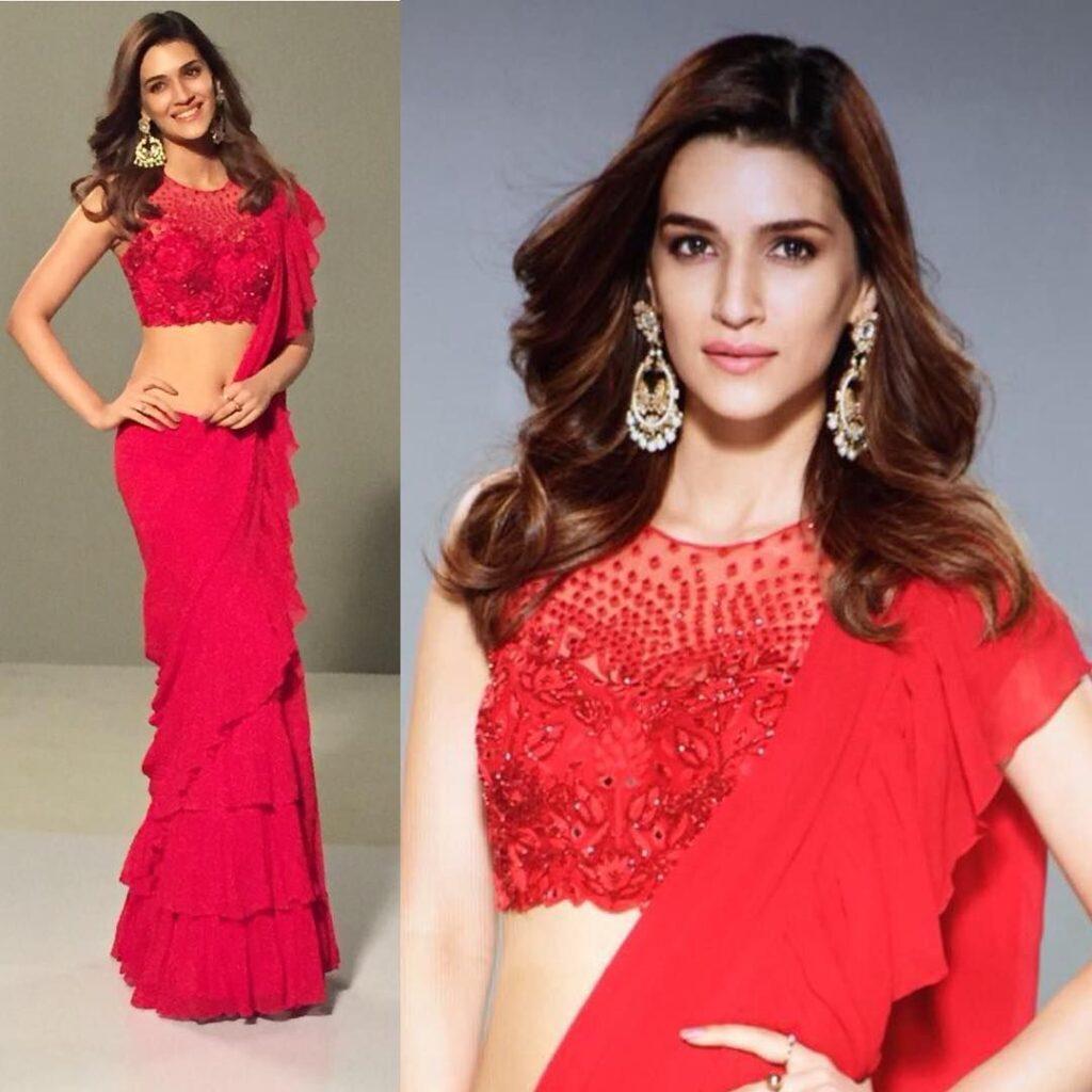 Kriti Sanon, Vaani Kapoor, Shilpa Shetty, Raveena Tondon: Bollywood Celebs Inspired Ruffle Saree Looks - 0