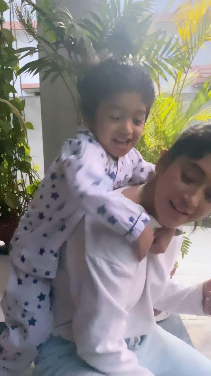 Shivangi Joshi's cute fight with nephew Vansh, watch video