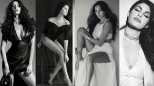 Take some monochrome look inspiration from Disha Patani, Tara Sutaria, Nora Fatehi, Jacqueline Fernandez To Look thinner! 4
