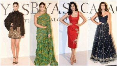 Tara Sutaria, Ananya Pandey, Janhvi Kapoor, Alia Bhatt and many more celebs at Sabyasachi 20 years celebration event