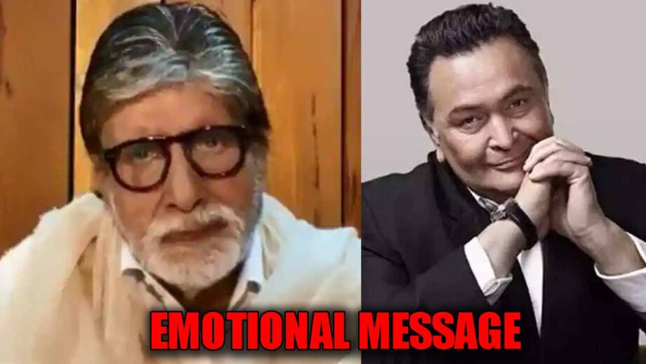 Amitabh Bachchan's emotional message to his friend Rishi Kapoor, WATCH VIDEO