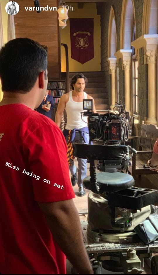 COVID-19: Varun Dhawan misses being on sets, gets nostalgic 1