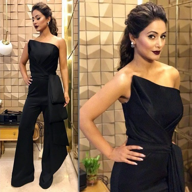 Every time Hina Khan Makes Perfect Style Statement In Dark Shades 4