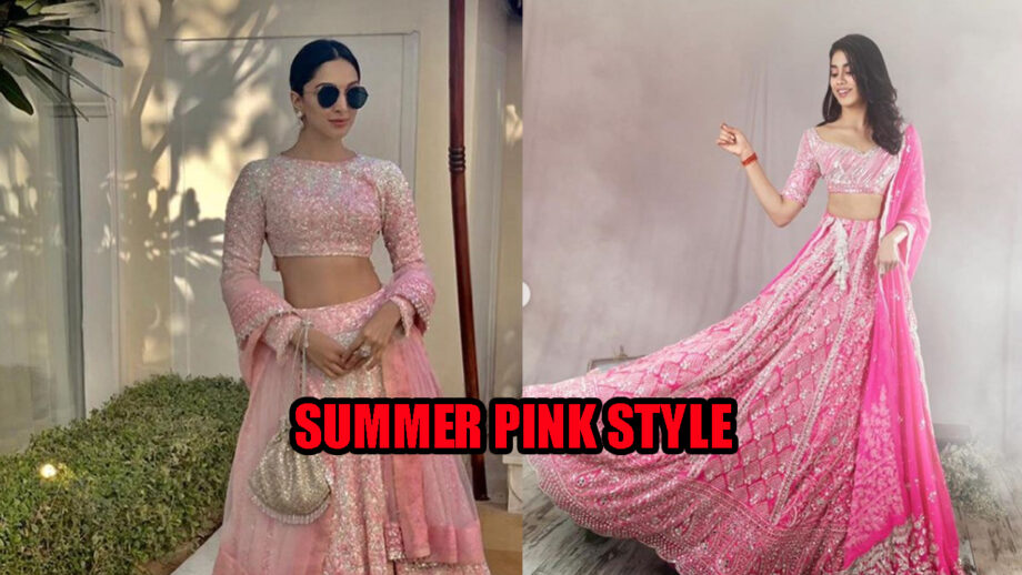 IN PHOTOS: When Kiara Advani and Janhvi Kapoor rocked the 'summer pink style' in a Manish Malhotra gear