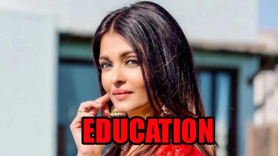 Aishwarya Rai Bachchan S Education And Qualification Details Revealed Iwmbuzz