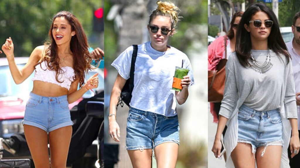 Ariana Grande Miley Cyrus Selena Gomez 8 Outfit Ideas With Short Shorts Iwmbuzz