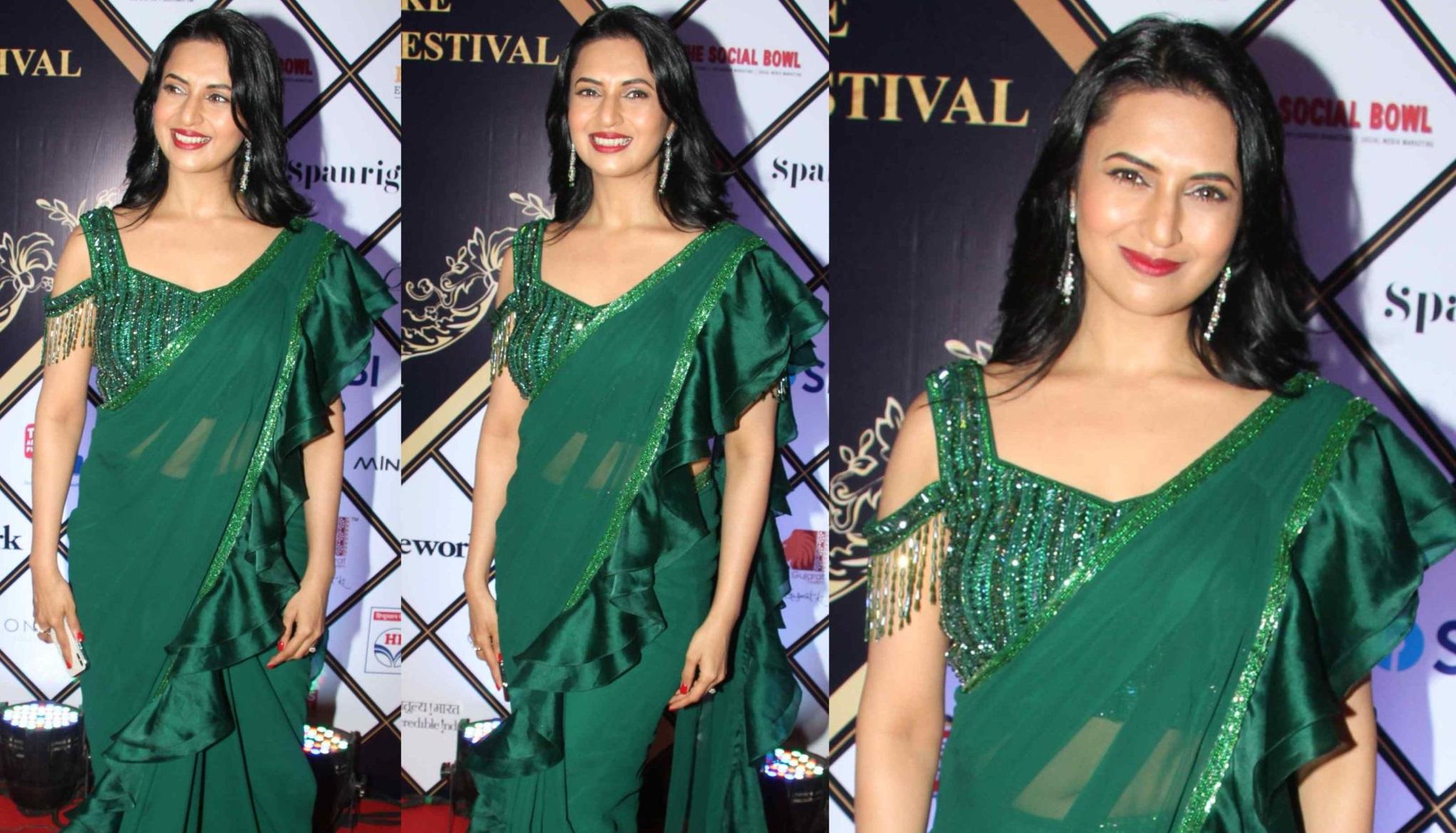 Erica Fernandes VS Drashti Dhami VS Divyanka Tripathi: Who Wore Ruffle Saree Better? 3