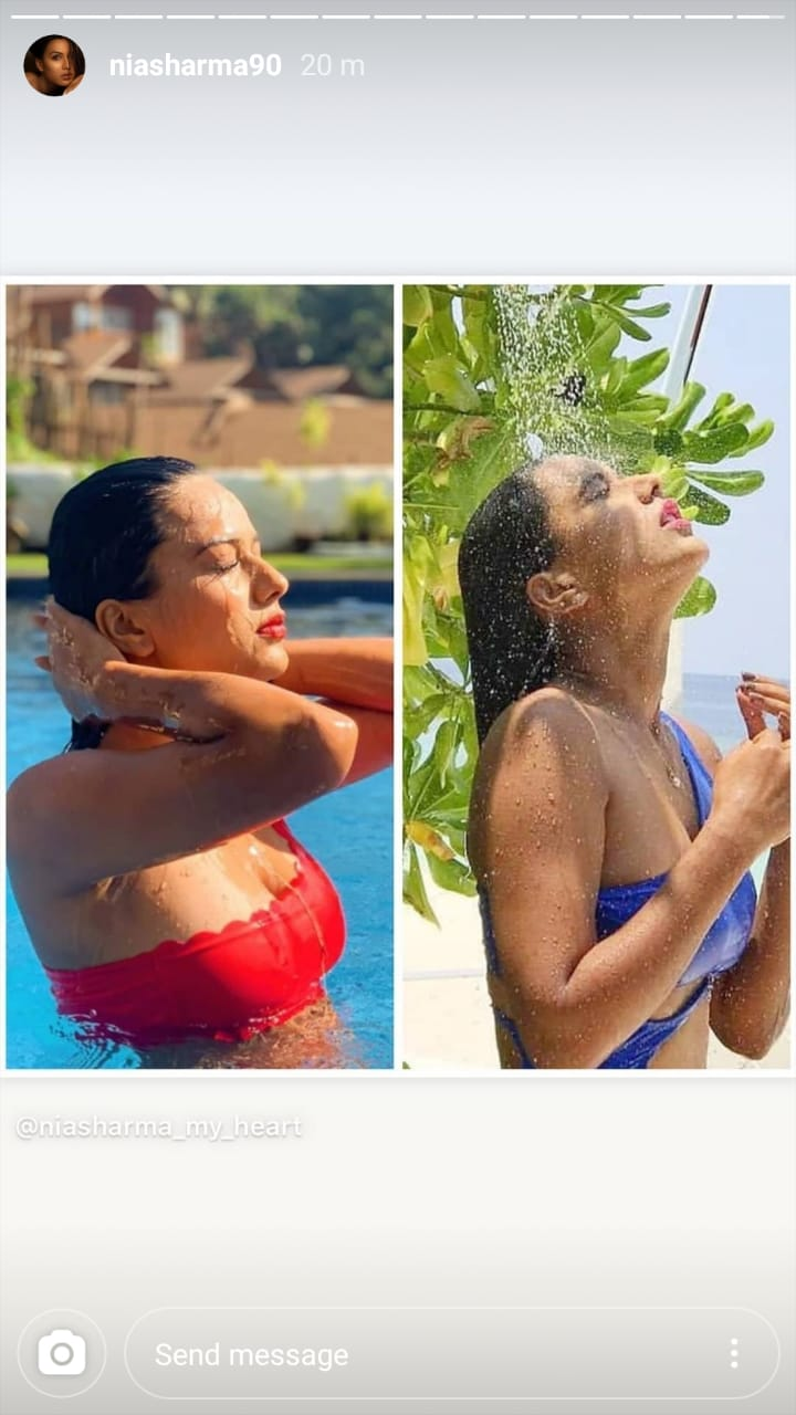 Naagin fame Nia Sharma shares wet and hot shower pictures 1