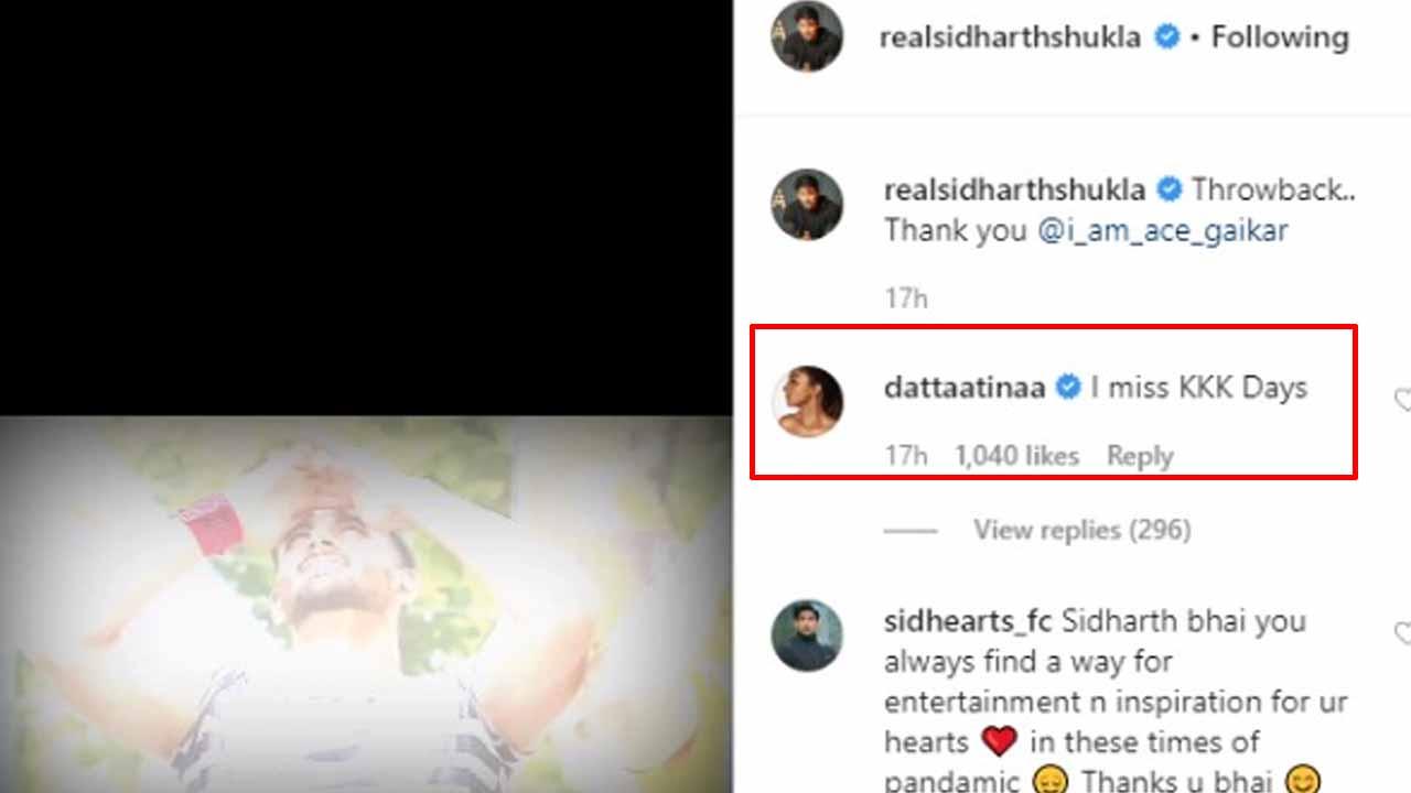 Sidharth Shukla remembers Khatron Ke Khiladi, Tinaa Dattaa comments 'I miss KKK days'