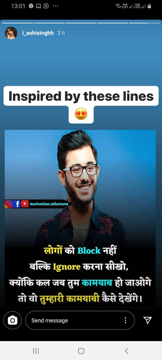 Ashi Singh aka Yasmine gets inspired by CarryMinati, says 'don't block people, ignore them'