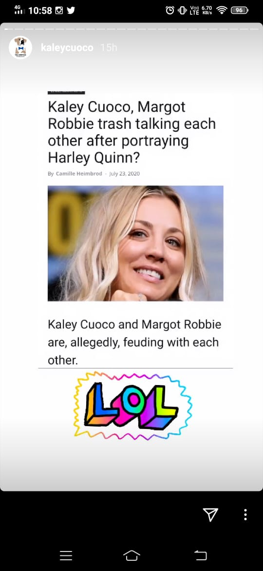 'LOL' : Check out Kaley Cuoco's hilarious reaction on rumors of feud with Margot Robbie