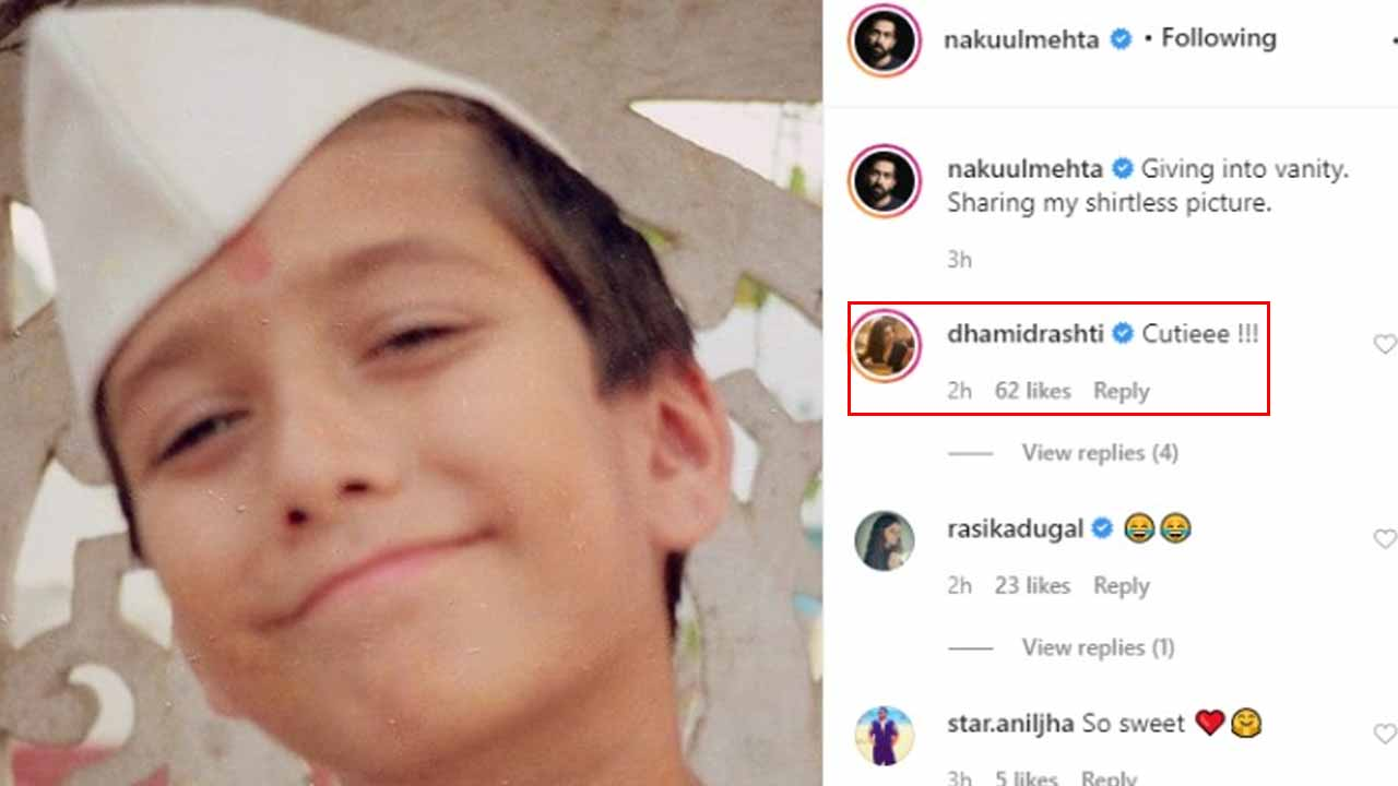 Nakuul Mehta shares cute childhood picture, BFF Drashti Dhami comments 'cutiee'
