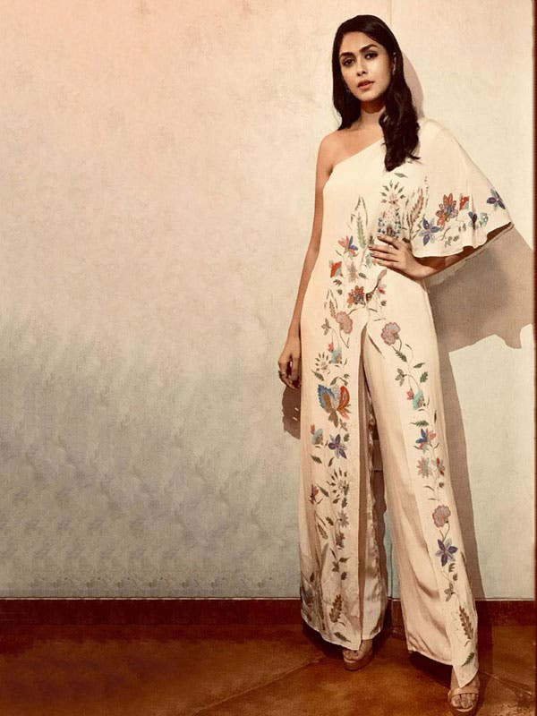 Mrunal Thakur's Floral Outfit Collection Is An Inspiration!! 1