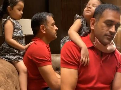 MS Dhoni Cute Moments With Daughter Ziva 1