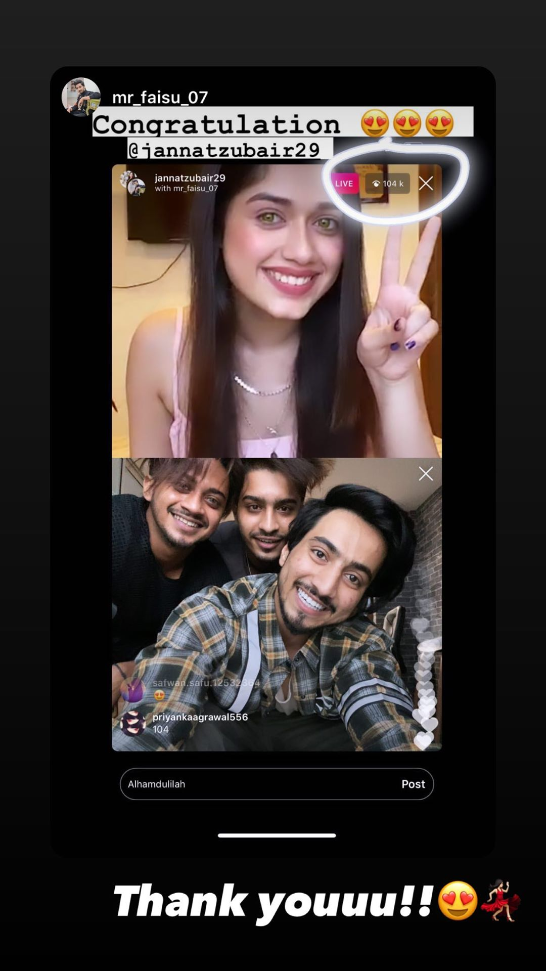 (Private Chat): Faisu's live video with Jannat goes viral