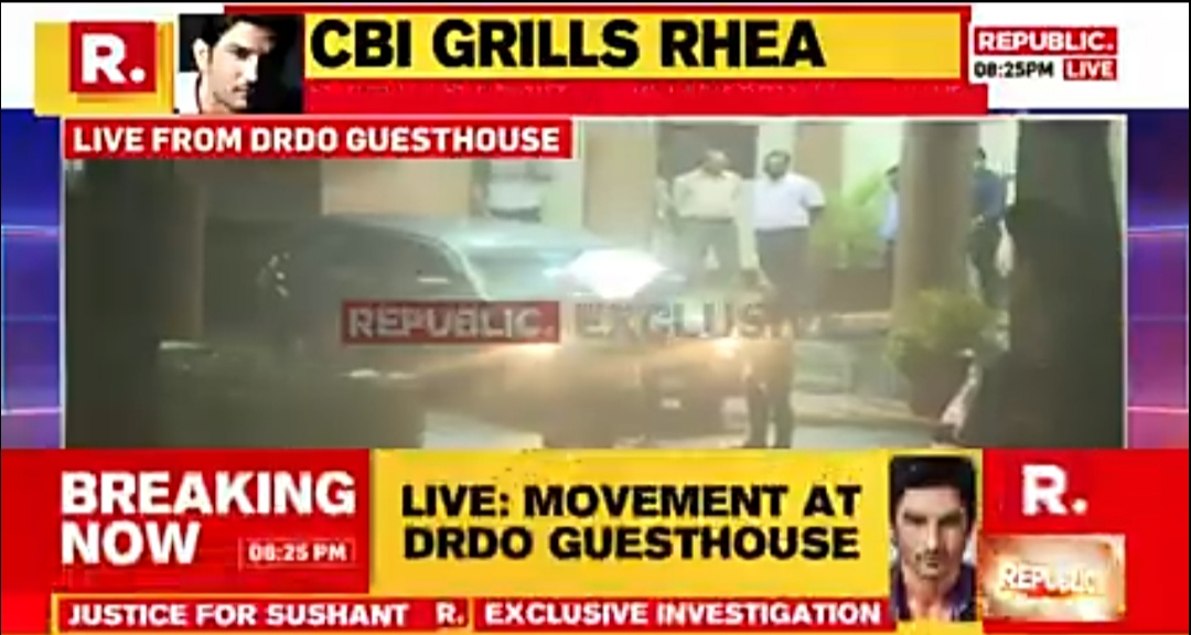 Sushant Singh Rajput Death: Rhea Chakraborty SPOTTED leaving DRDO house after 2nd day of CBI grilling 1