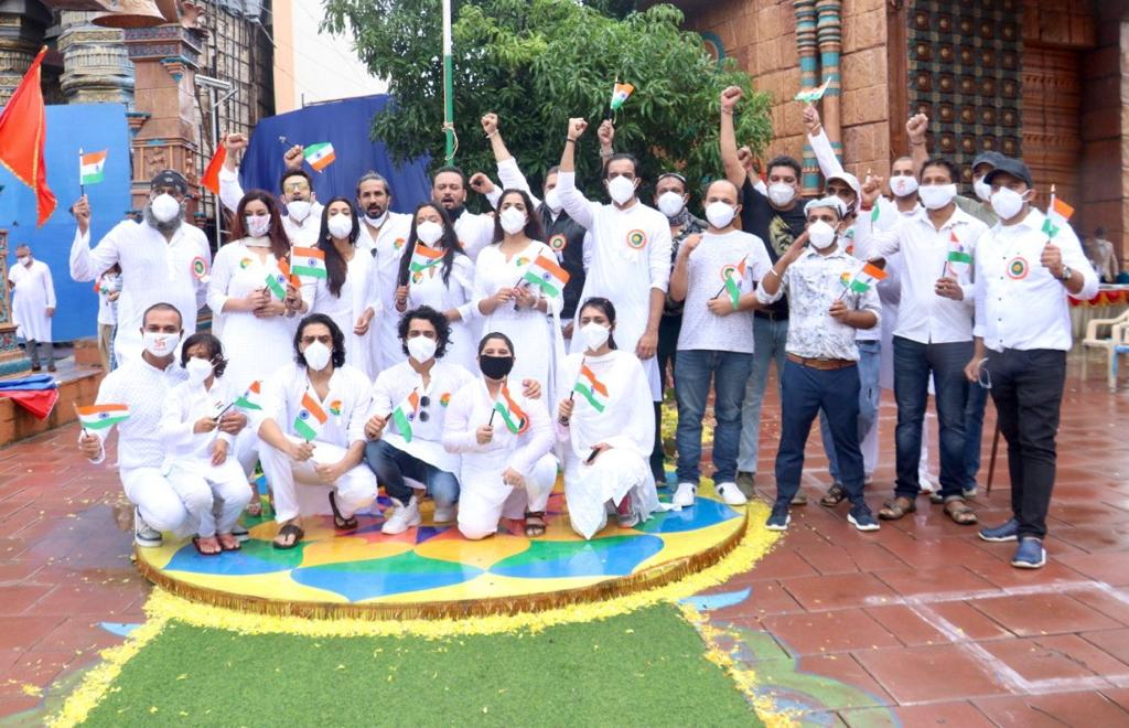 Swastik Productions family's unique Independence Day celebrations