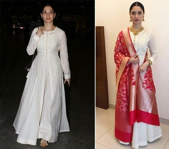 We Can't Get Over Tamannaah Bhatia's Stylish And Chic Chikankari Outfit Looks