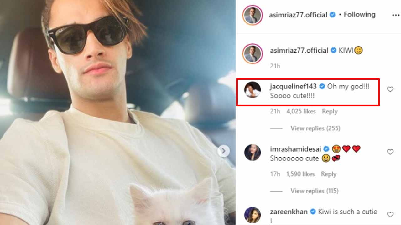 Asim Riaz shares hot picture, Jacqueline Fernandez comments 'oh my god! so cute'