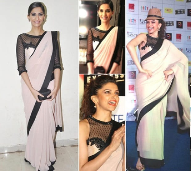 Copy Cats!! Same Outfits Worn By Deepika Padukone and Sonam Kapoor 1