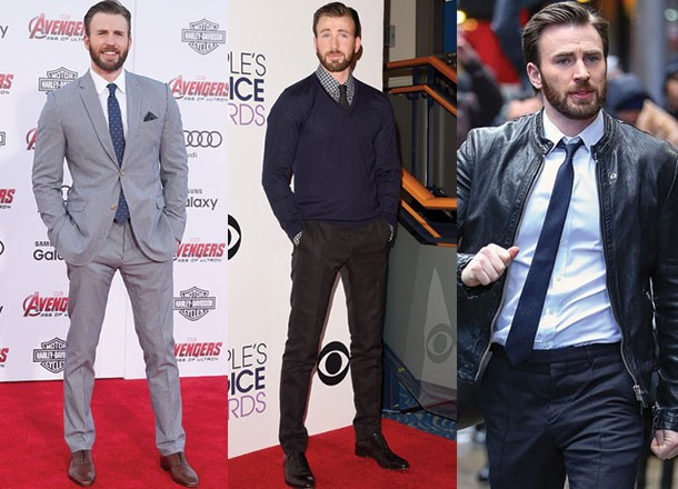 From White To Black: Colourful Suit Looks From Chris Evans 5