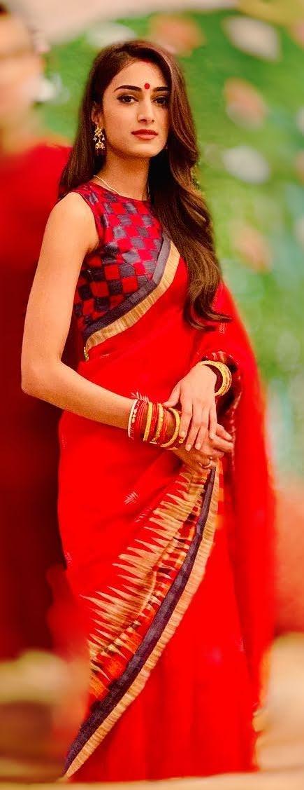 Hina Khan, Jennifer Winget, Erica Fernandes: Hot In RED Traditional Saree 6