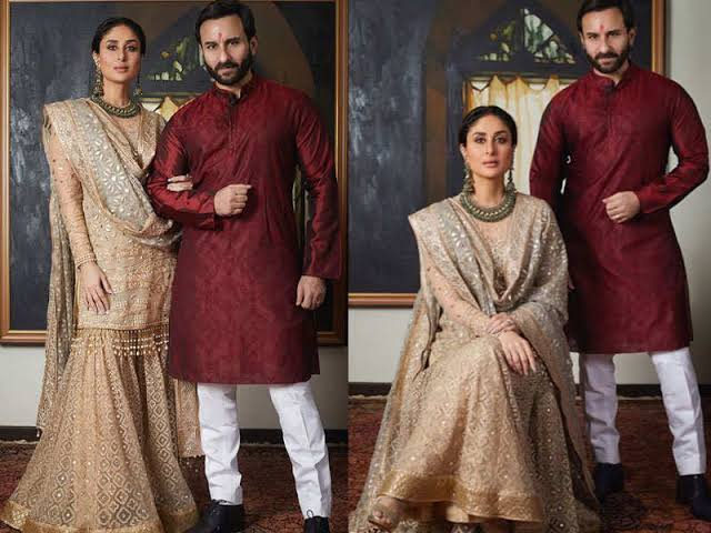 Want A Navratri Special Romantic Ethnic Photoshoot With Your Partner? Take Inspiration From Kareena Kapoor And Saif Ali Khan