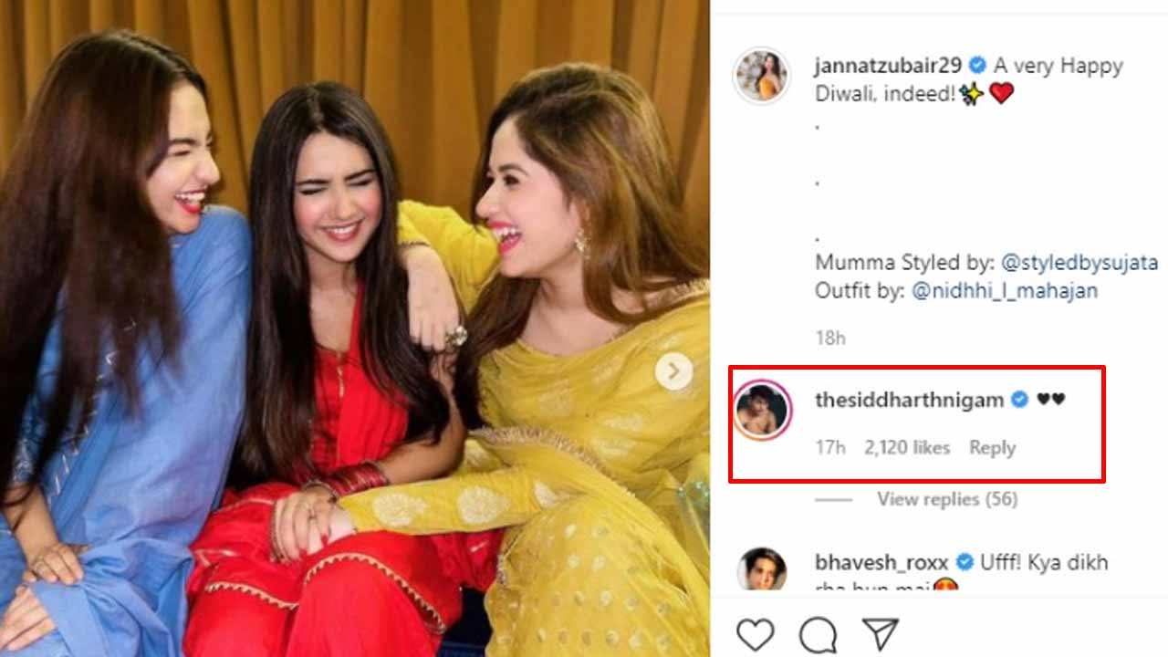 Anushka Sen, Roshni Walia and Jannat Zubair pose for a candid picture, Siddharth Nigam loves it