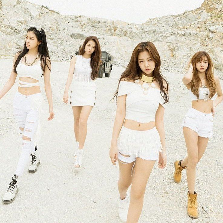 In Pics; Blackpink Girls Look Stunning While Twinning In White 2